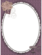 French Postage Stamp Border page border