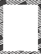 Black-and-White American Flag