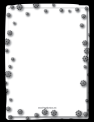 Black Starbursts Border