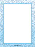 Blue Abstract Border