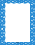 Blue Christian Fish Border