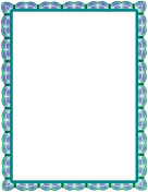 Blue Green Lace Border
