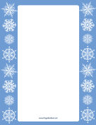 Blue Margins Snowflake Border