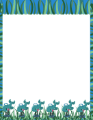 Blue Playground Border
