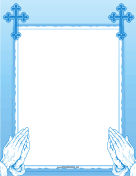 Blue Prayer Border