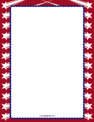 Blue Stripes Red Stars Border
