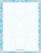 Blue on Gray Snowflake Border