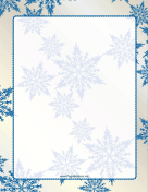 Blue on Ivory Snowflake Border
