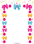Bows and Confetti Party Border