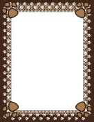 Brown Paw Print Border