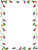Christmas Lights Christmas Border