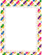 Colorful Cupcakes Party Border