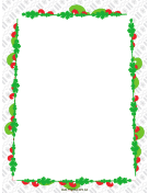 Colorful Garland Christmas Border