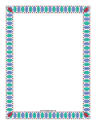 Colorful Geometric Border