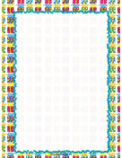 Colorful Gifts Party Border