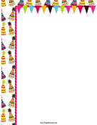Colorful Hats Party Border