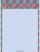 Crowns on Plaid Border