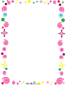 Curlicues and Confetti Party Border
