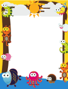 Cute Animal Border