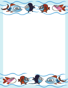 Cute Fish Border