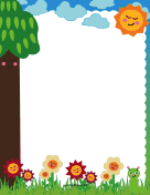 Cute Nature Border