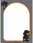 Dachshund Dog Border