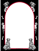 Dalmatian Dog Border