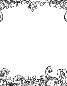 Fancy Black-and-White Border