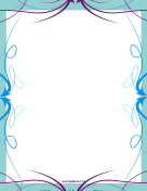 Fancy Blue and Purple Border