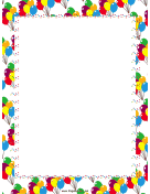 Festive Balloons Party Border