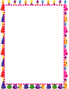 Festive Hats Party Border