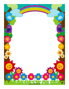 Flowers and Rainbows Border