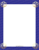 Gold Corners Snowflake Border