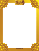 Gold Ribbon Border