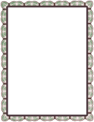 Green Red Lace Border