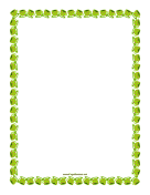 Green Teacups Border