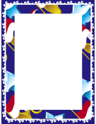 Horns and Stars Border