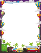 Hot Air Balloons Border