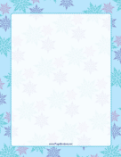 Multicolor on Blue Snowflake Border