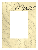 Music Sheet Border Vertical