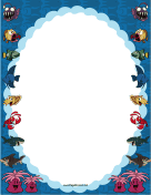 Ocean Animals Border