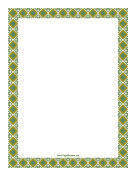 Old Fashioned Green Border
