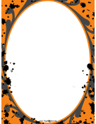 Orange Spatter Halloween Border