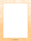 Orange Wave Border