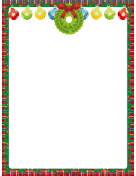 Ornaments and Wreath Christmas Border