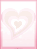Pink Red Hearts Valentine Border