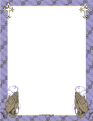 Purple Prayer Border