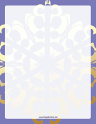 Purple and Gold Snowflake Border