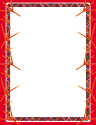 Red Bird Footprint Border