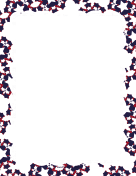 Red White and Blue Cut-out Border